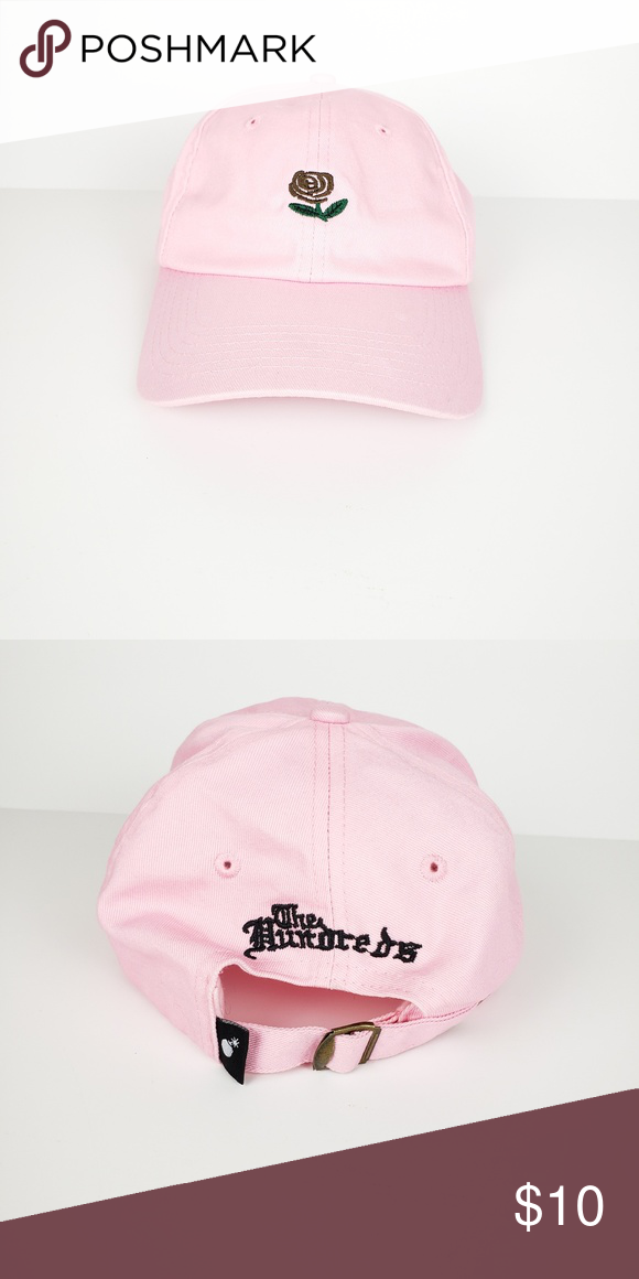 361cdc2fb34775 Pink Dad Hat Pink dad hat with Rose The Hundreds Accessories Hats ...