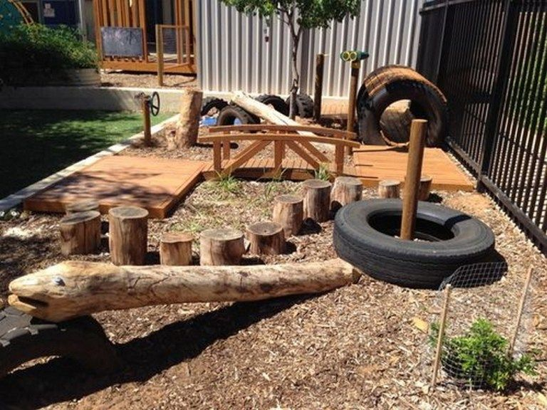 46 Creative And Cute Natural Playground Garden For Kids 1