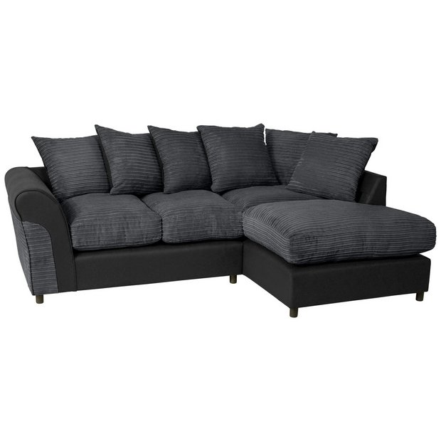 Buy Argos Home Harry Right Corner Fabric Sofa Charcoal Sofas Charcoal Sofa Fabric Sofa Sofa