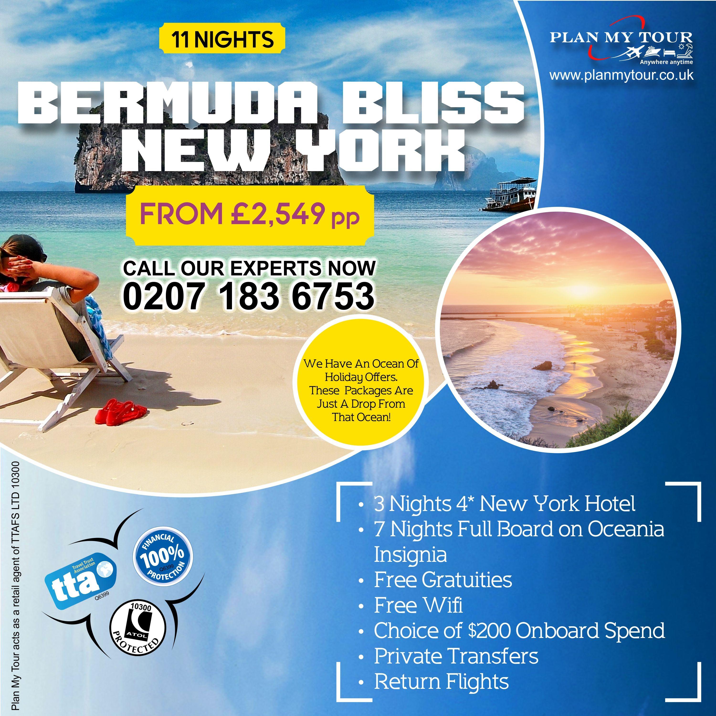 Bermuda Bliss - New York  #PlanMyTour #NewYork #NYC #Bermuda #BermudaBliss #NewYorkHoliday #Oceania #OceaniaCruises #OceaniaInsignia #RoyalHoliday #TTA #HolidayCruise #HolidayAdventures #HolidayOffers #HolidayDestinations #HolidayPackages #HolidayPlanning #Vacation #HaveFun #SoMuchFun #UK #UKHolidays #TravelAgent #TravelAgentsinUK #London #Tour #Tours #Travel #Tourist #Tourism