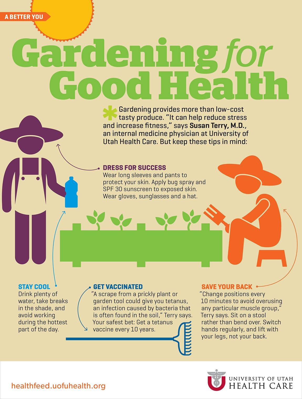 Gardening for good health health and fitness tips