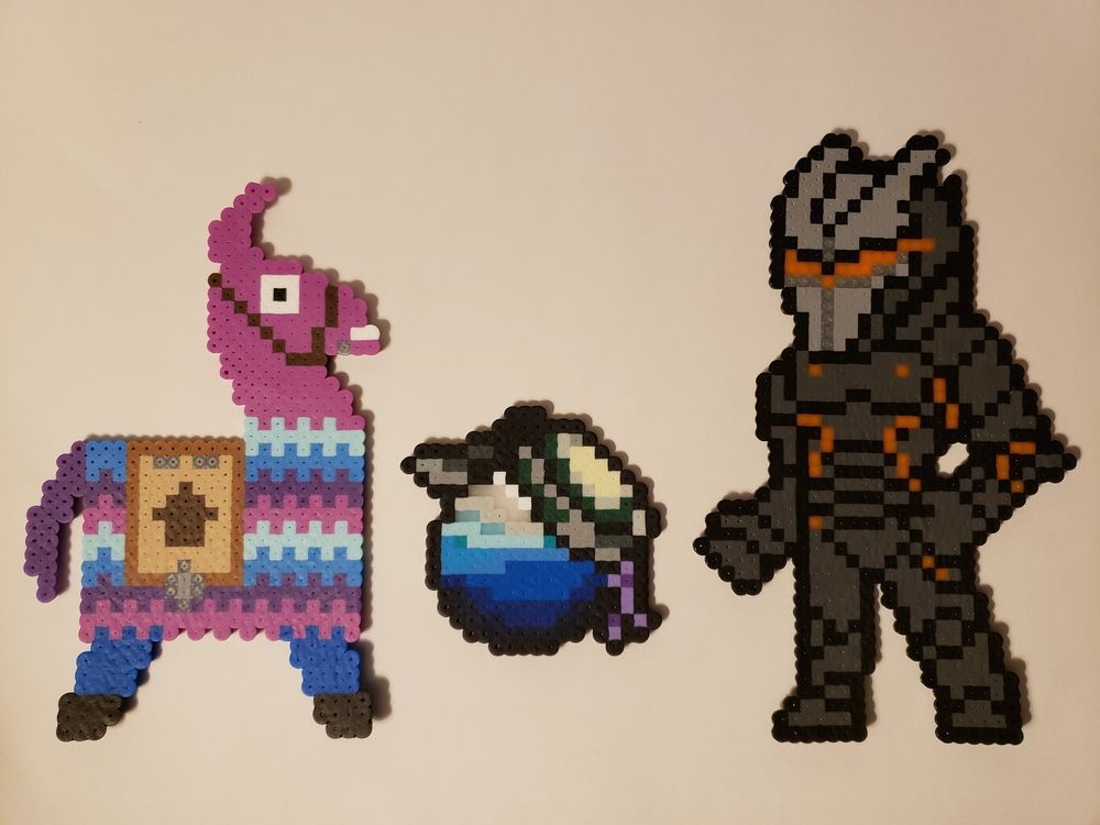 Fortnite Omega Loot Llama Potion Handmade Perler Bead Pixel