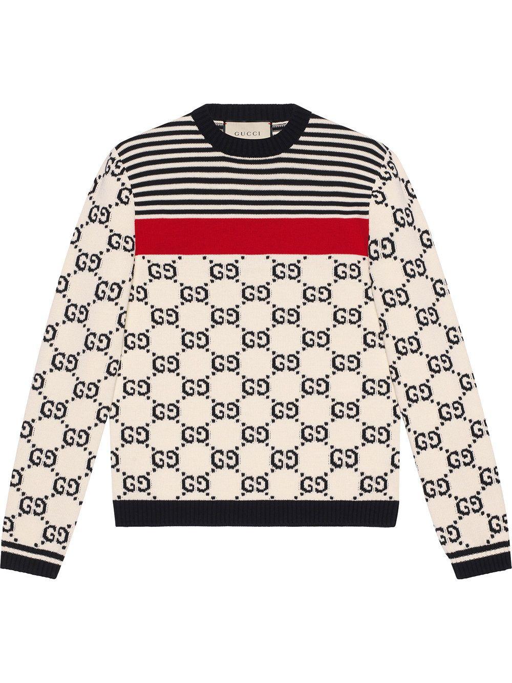 30378062a Gucci GG intarsia cotton sweater | The Man | Gucci sweater mens ...