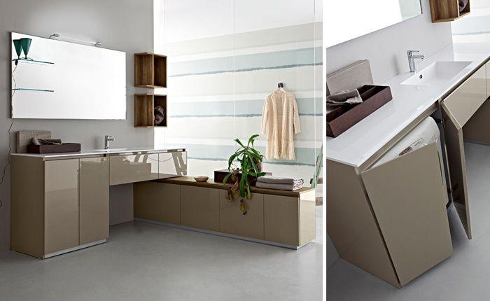mobili bagno con lavatrice a scomparsa - Cerca con Google   bagno ...
