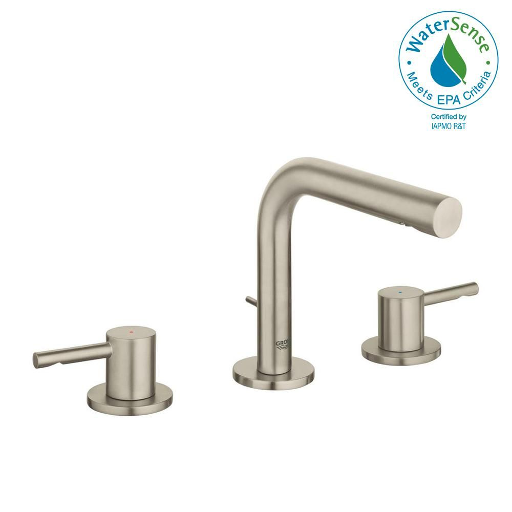 Moen Brantford 2 Handle Deck Mount Roman Tub Faucet Trim Kit With Valve In Brushed Nickel Tub Faucet Roman Tub Faucets Tub