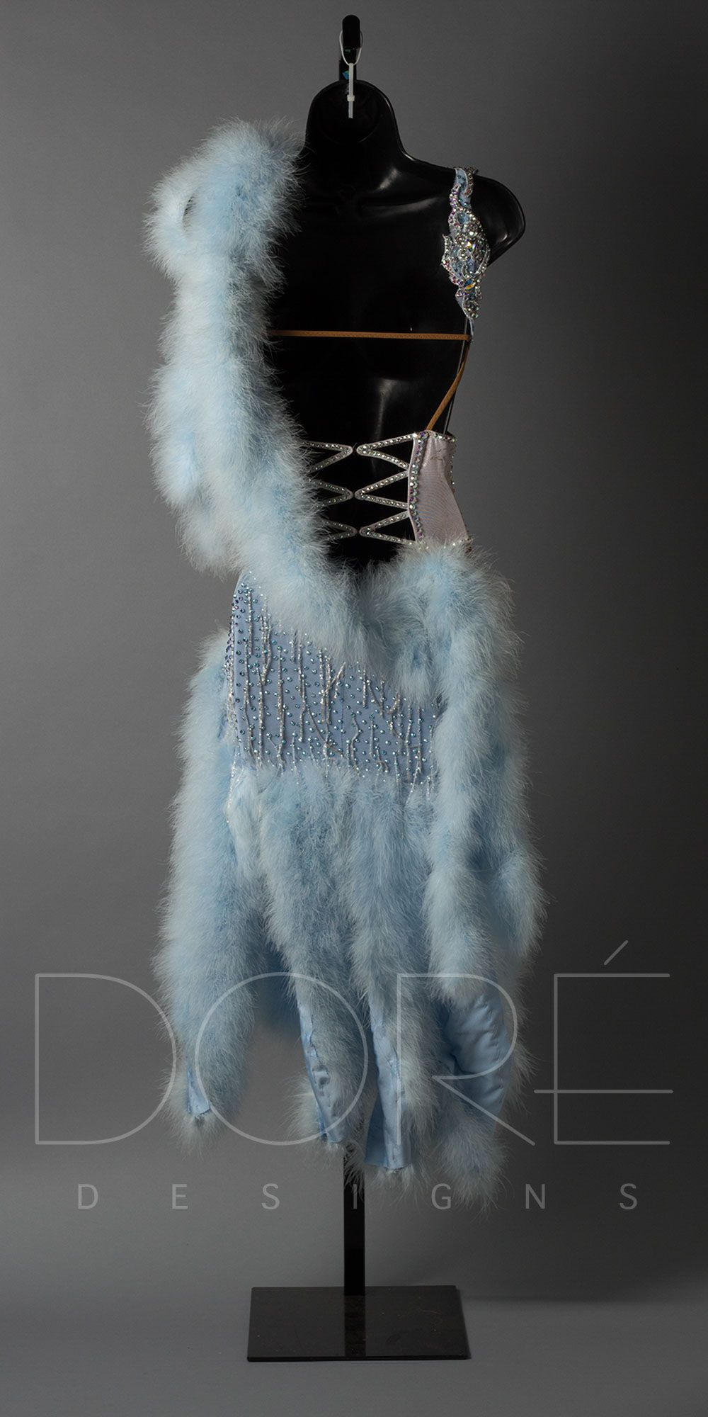 17ndl030055 04 Baby Blue Feather Boa Feather