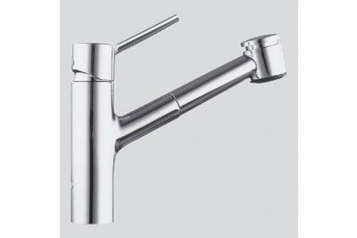 Kwc Single Hole Pull Out Lever Handle Kitchen Faucet At Bluebath