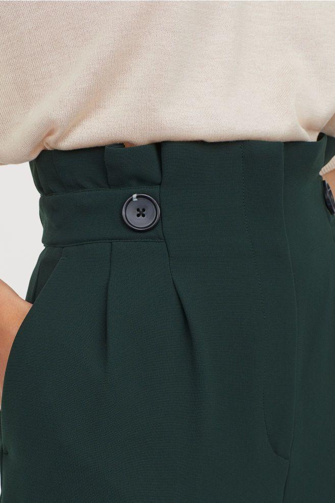 Photo of Papirpose Bukser – Mørkegrønn – Damer   H&M USA