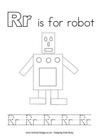tracing alphabet r is for robot letters preschool worksheets alphabet worksheets letter r. Black Bedroom Furniture Sets. Home Design Ideas