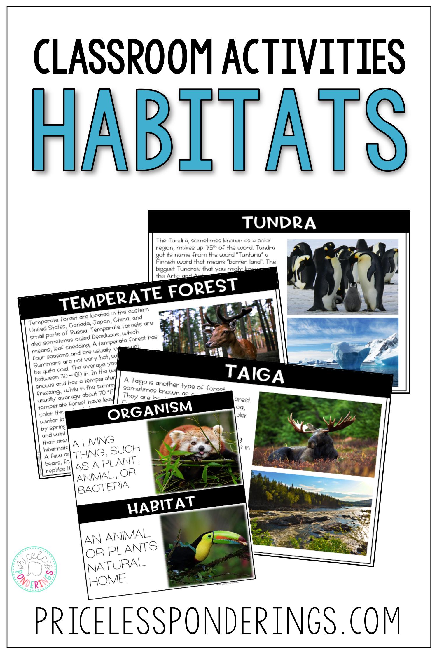 Animal Habitats And Biomes Activities And Worksheets