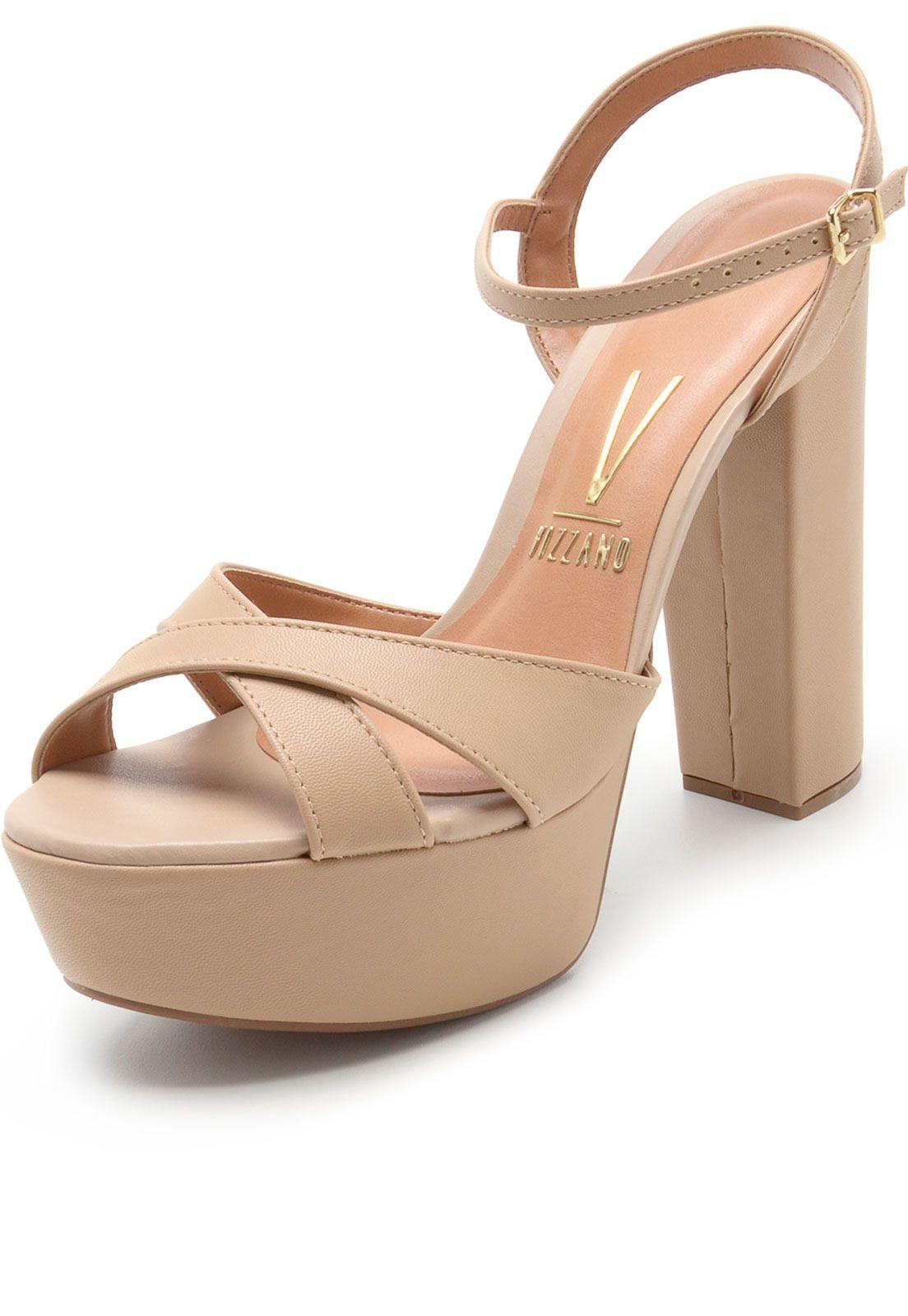 529b435f2 Sandália Vizzano Salto Grosso Nude em 2019 | Shoes | Shoes, Prom ...