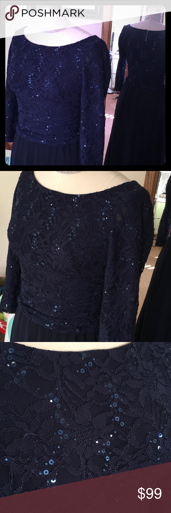 Ralph Lauren Evening Gown Stunner!!! This dress is lightly