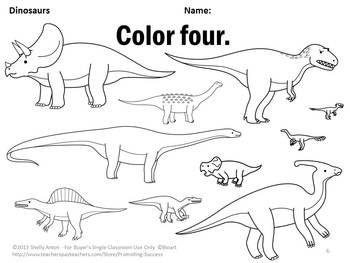 Dinosaur Theme Classroom, Number Words Worksheets