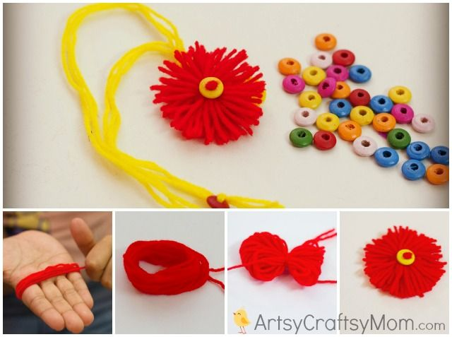 15 best ideas to make rakhi at home for rakshabandhan for Handmade things from waste material