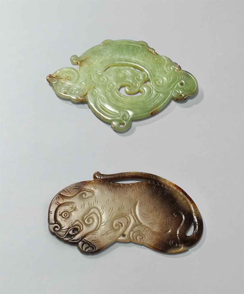 A grey and russet jade tiger pendant ming dynasty 1368 1644 a grey and russet jade tiger pendant ming dynasty 1368 1644 mozeypictures Images