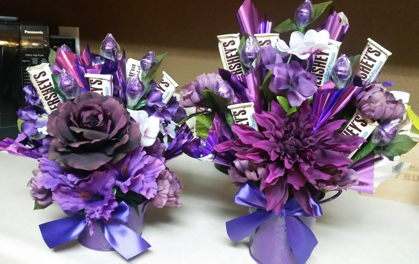 Candy flower bouquet in purple things i love pinterest flower candy flower bouquet in purple izmirmasajfo