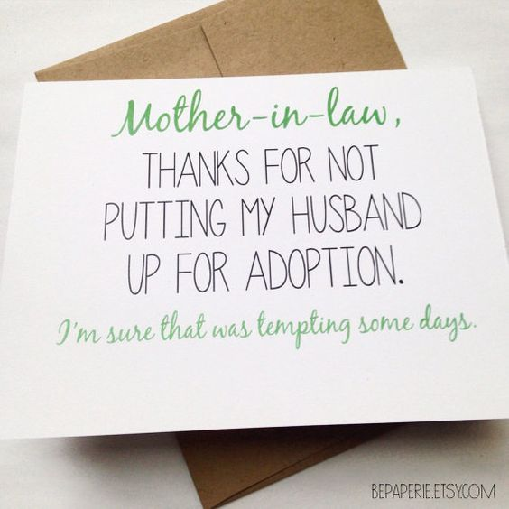 Hey i found this really awesome etsy listing at httpsetsy mother in law card mothers day card mom birthday card funny card card for mother in law mothers day m4hsunfo