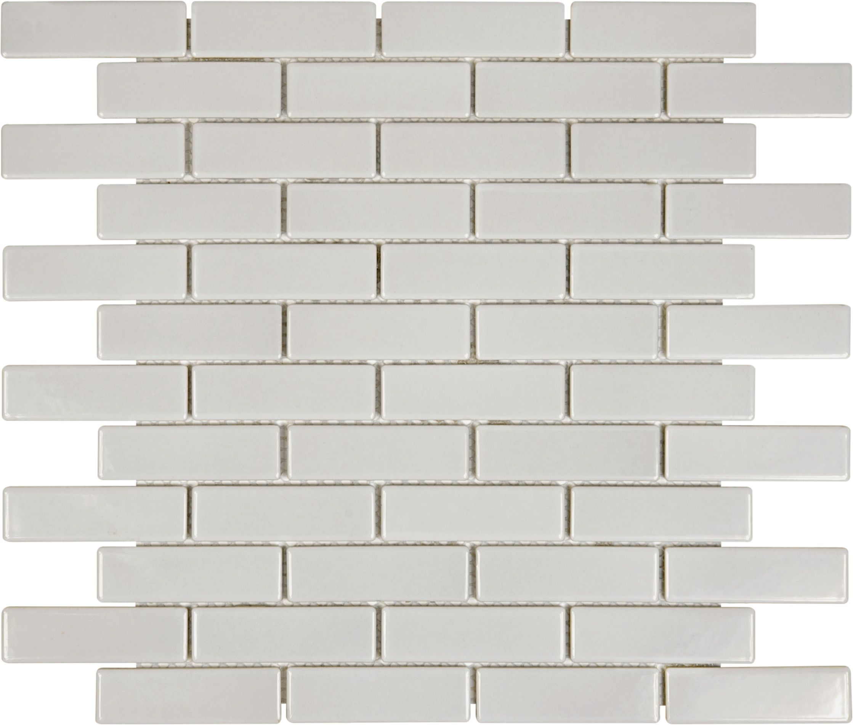 Warm Grey Mini Brick Mosaic