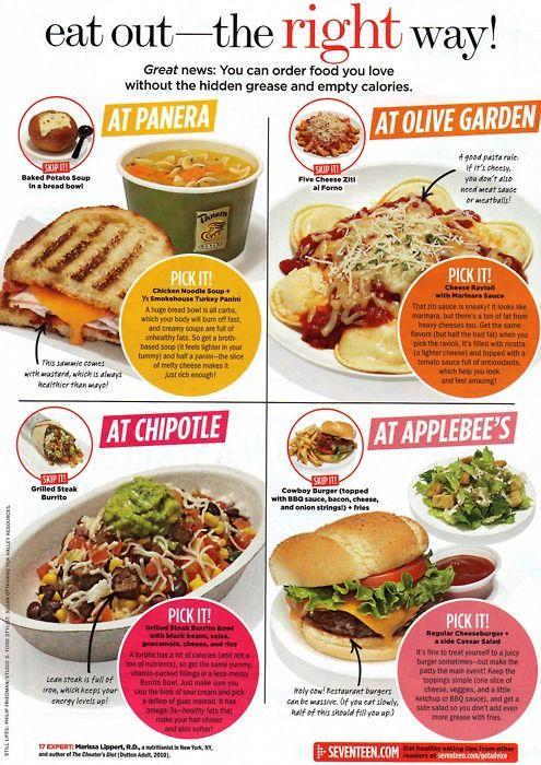 Fast food healthy choice pinterest nutricin salud y recetas fast food forumfinder Choice Image