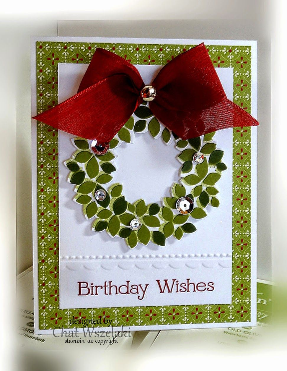 Wreath from old christmas cards - Find This Pin And More On Retired Stampin Up Wondrous Wreath Christmas Card