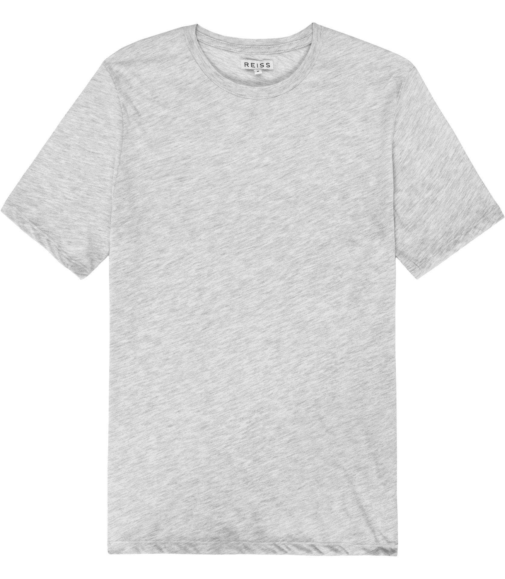 Black t shirt reiss - Mens Grey Crew Neck T Shirt Reiss Bless Marl