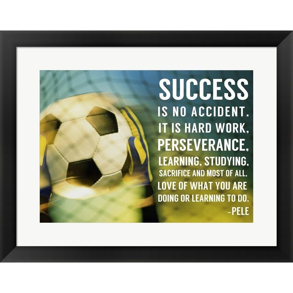 Sports Mania \'Success - soccer quote\' Framed Wall Art | Soccer ...