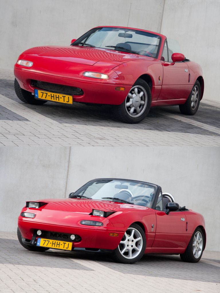 Mazda Mx 5 Na Mk1 Classic Red Nieuwe Velgen Mazda
