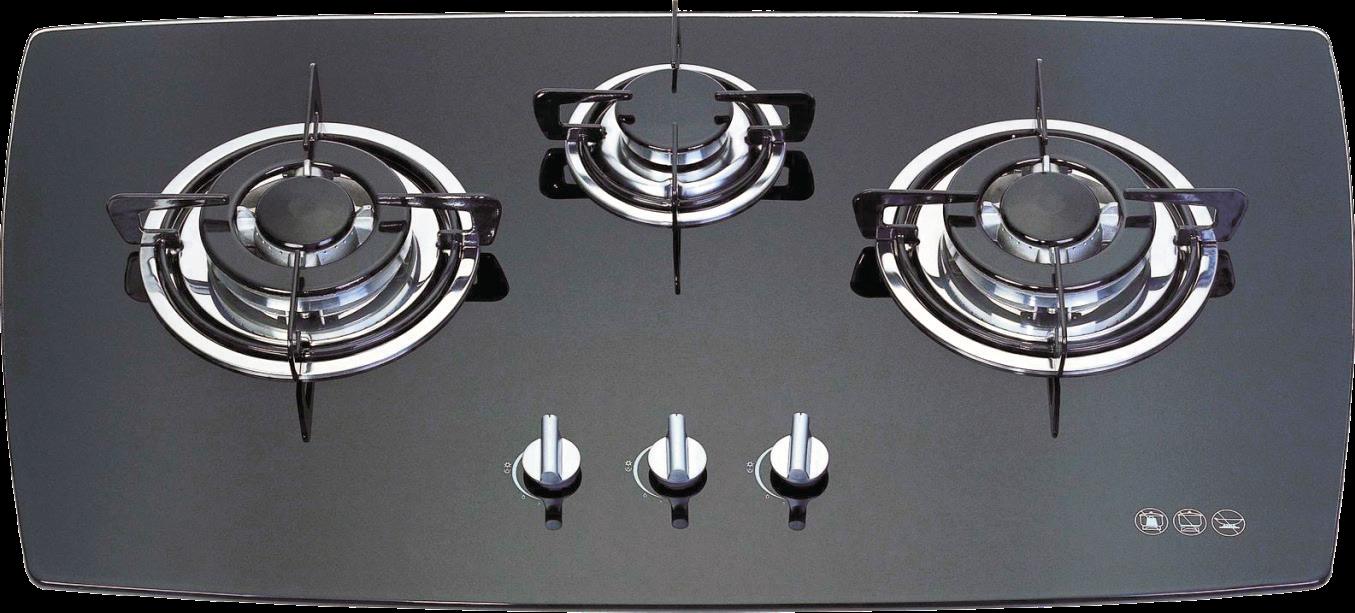 Trio G01 Built In 3 Burner Glass Gas Hob High Power Work Burner Suitable For Indian Cooking Nagold By Hafele Kuhnya