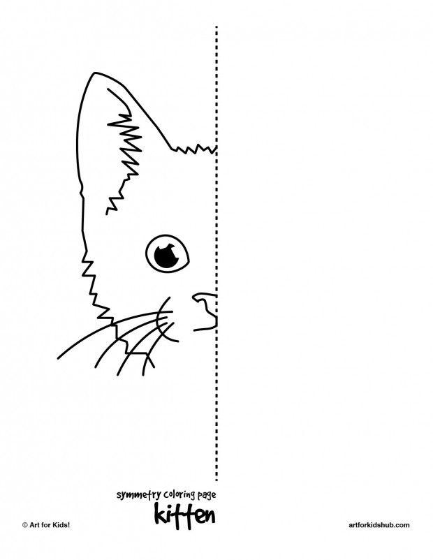 kitten-symmetry | Art Enrichment Ideas | Pinterest | Math, Math ...