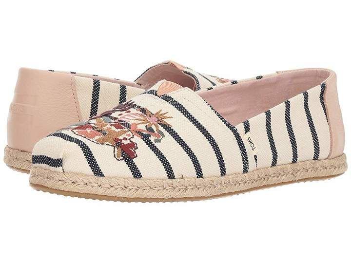 7ea0578b338d9 TOMS Alpargata | Vegan Shoes | Floral espadrilles, Floral embroidery ...