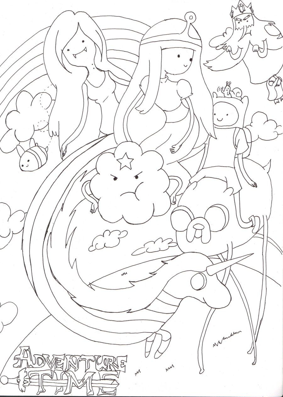 Adventure Time Coloring Pages All Princesses Wallpapers  Img Need