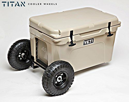 Titan Yeti Cooler Wheels Kit Compatible With Yeti 35 And Yeti 45 Turn  Outdoor Patio Coolers Into Portable Camping Equipment Made In The USA * You  Can Get ...