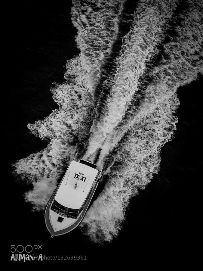 Who called for Taxi ? - Pinned by Mak Khalaf OLYMPUS DIGITAL CAMERA Black and White beachboatcoastoceanseawaterwaves by 79azadi