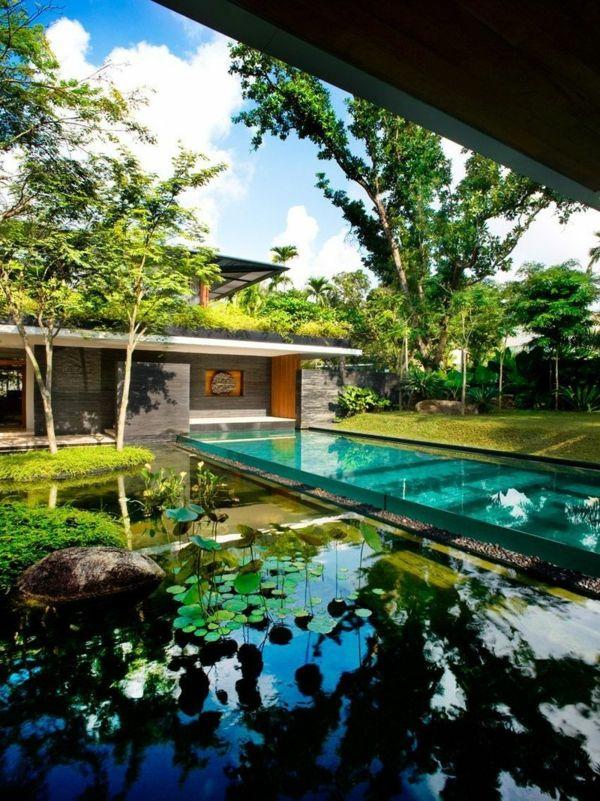 Trend Dekorativen Teich im Garten anlegen u Zur ck zur Natur Bewegung garten teich anlegen schwimmen dekorativ