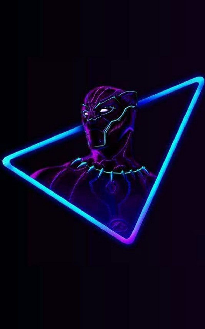 3d Black Panther Wallpaper Neon Wallpaper Avengers Wallpaper Black Panther