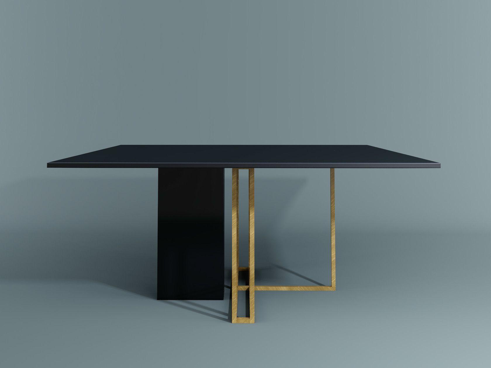 Tavoli Da Pranzo Quadrati : Tavolo da pranzo quadrato plinto tavolo quadrato by meridiani