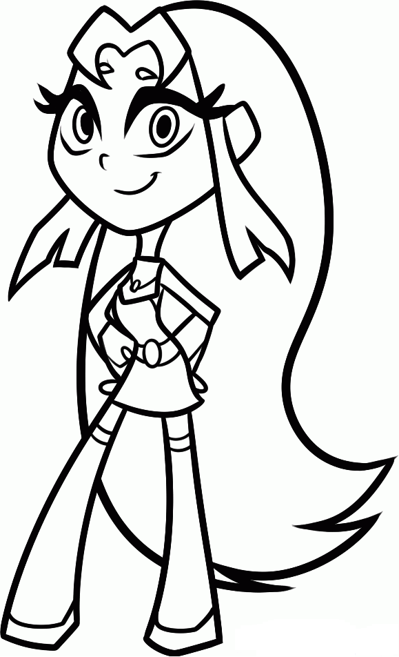Teen titans go coloring pages starfire | Coloring 4 Kids: DC Super ...