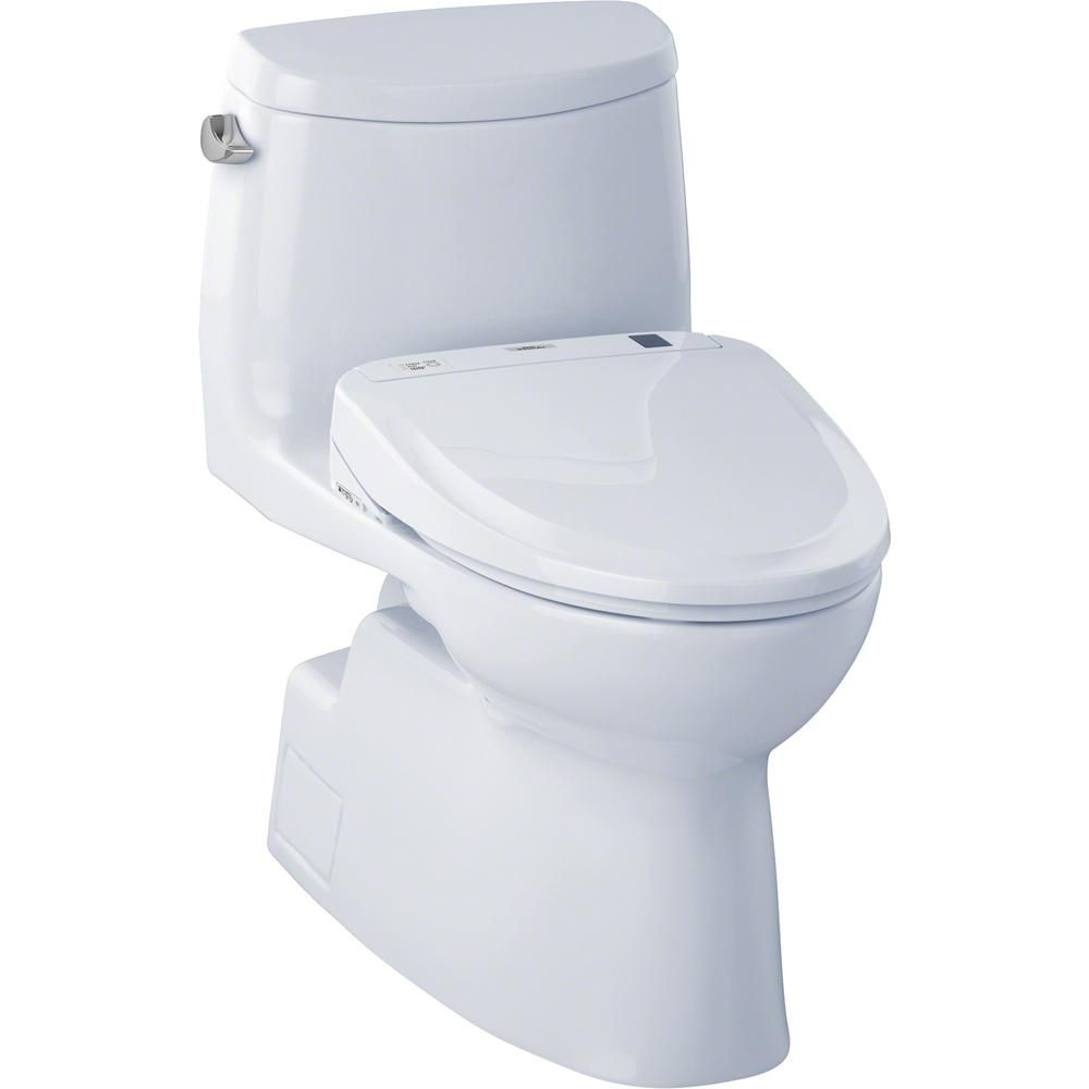 Toto Carlyle Ii Connect 1 Piece 1 28 Gpf Elongated Toilet With