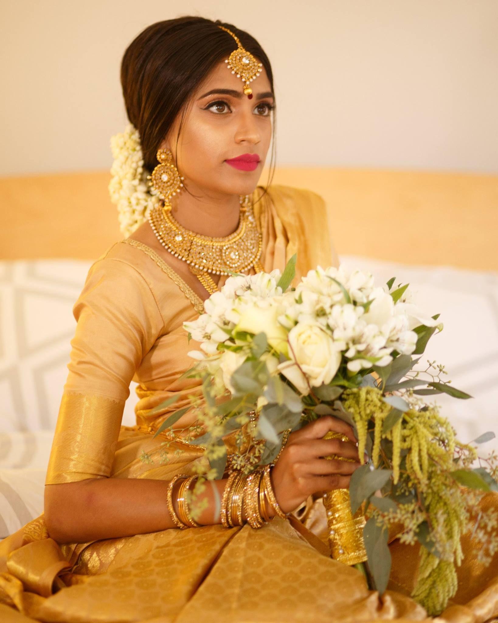 Indian Bridal Makeup Bridal Makeup Indian Bridal Hair Bridal Hair South Asian Bri Pakistani Bridal Makeup Wedding Dresses With Flowers Wedding Hair Flowers