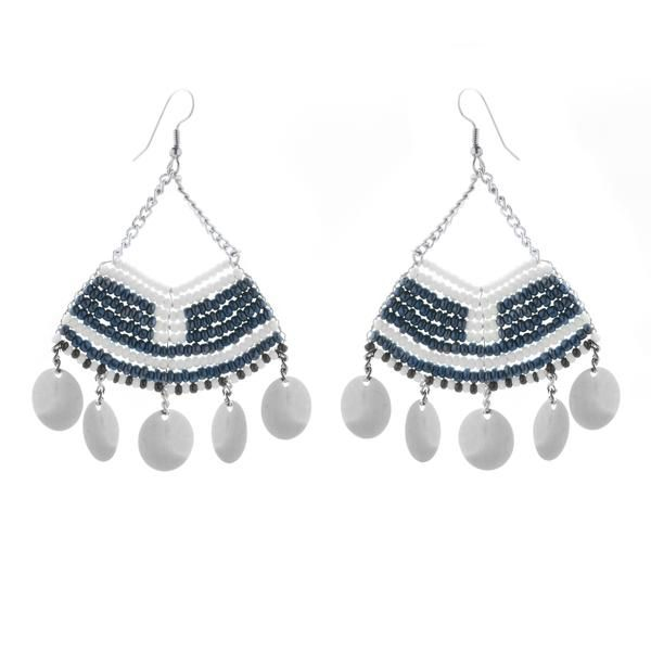 c602480ffbc456 These Beaded Fan Earrings with Metallic Sequins are intricately handcrafted  in a unique traditional Maasai beaded pattern.