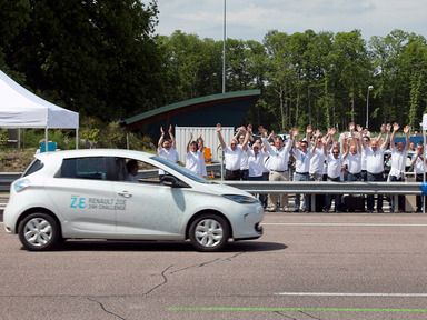 ZOE electric car sets world record for drive - Renault