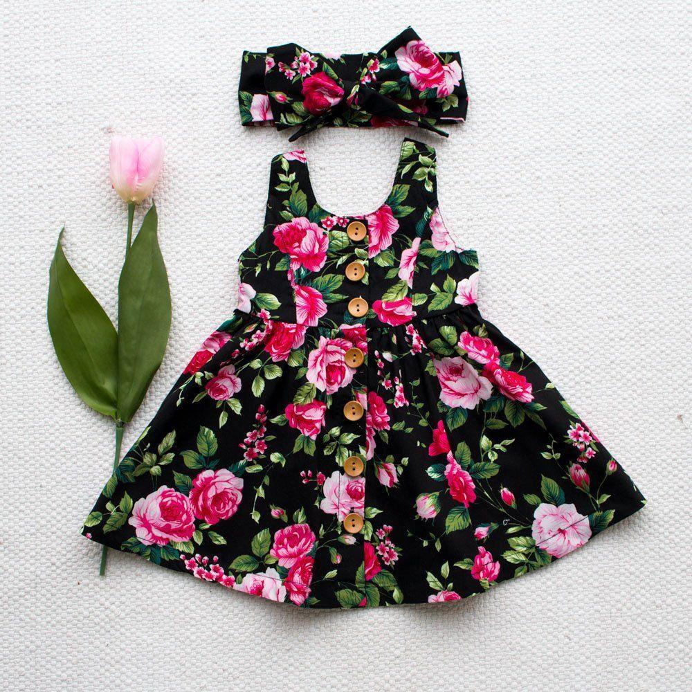 Baby Girl Toddler Floral Anniversaire Mariage Pageant Parti Princesse Dentelle Tutu Dress