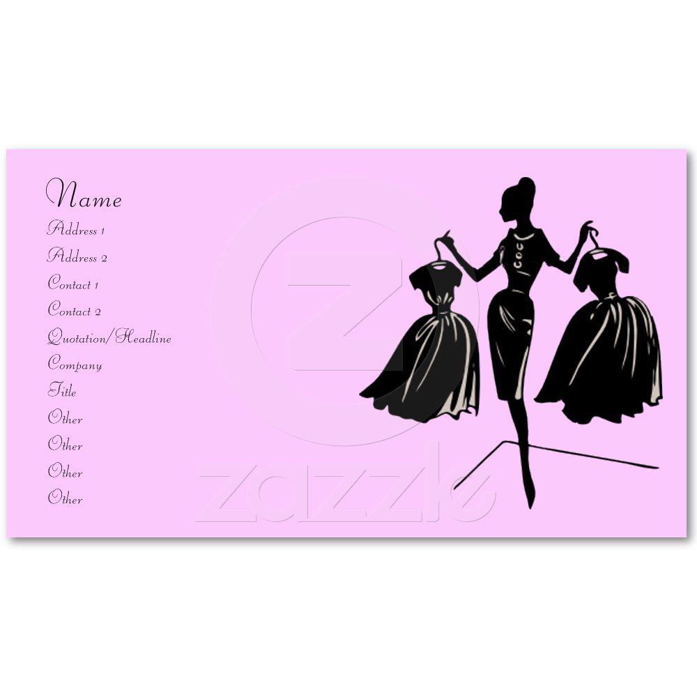 Silhouette Haute Couture Fashion Art Croquis Illustrations Carte De Visite Sketch