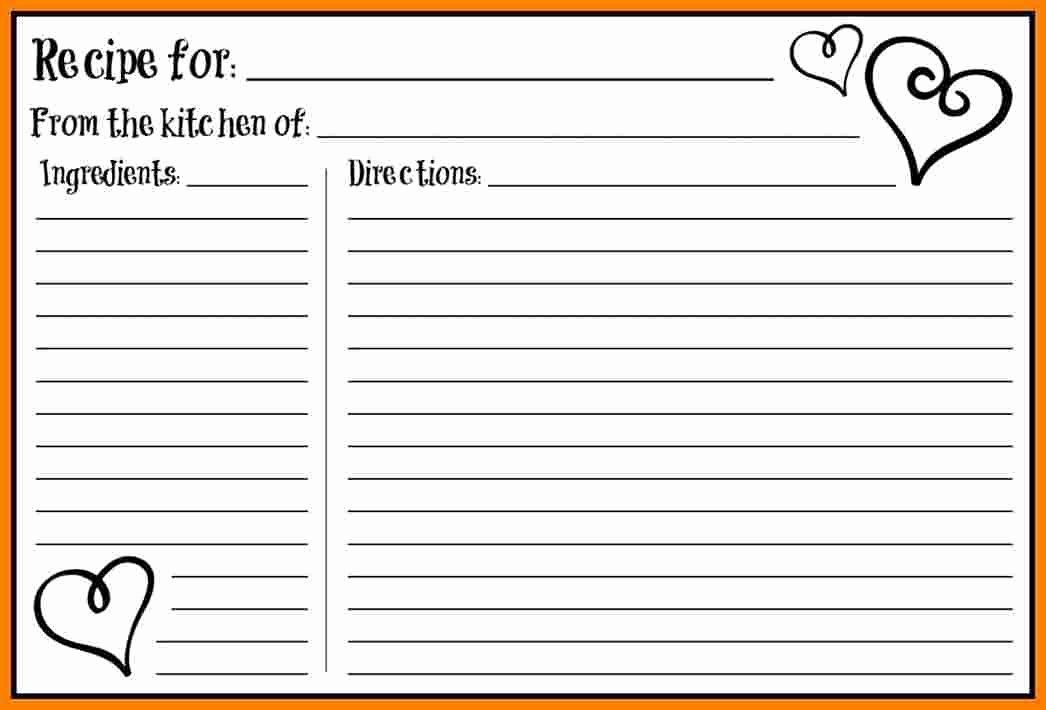 Editable Recipe Card Template New 5 Free Editable Recipe Card Templates For Microsoft Recipe Cards Printable Free Recipe Cards Template Printable Recipe Cards