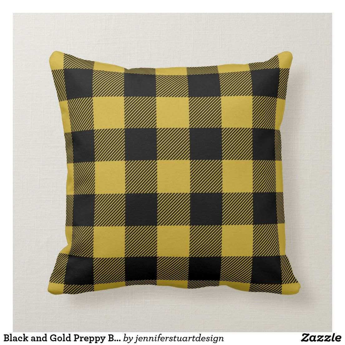 Preppy Buffalo Check Plaid Throw Pillow