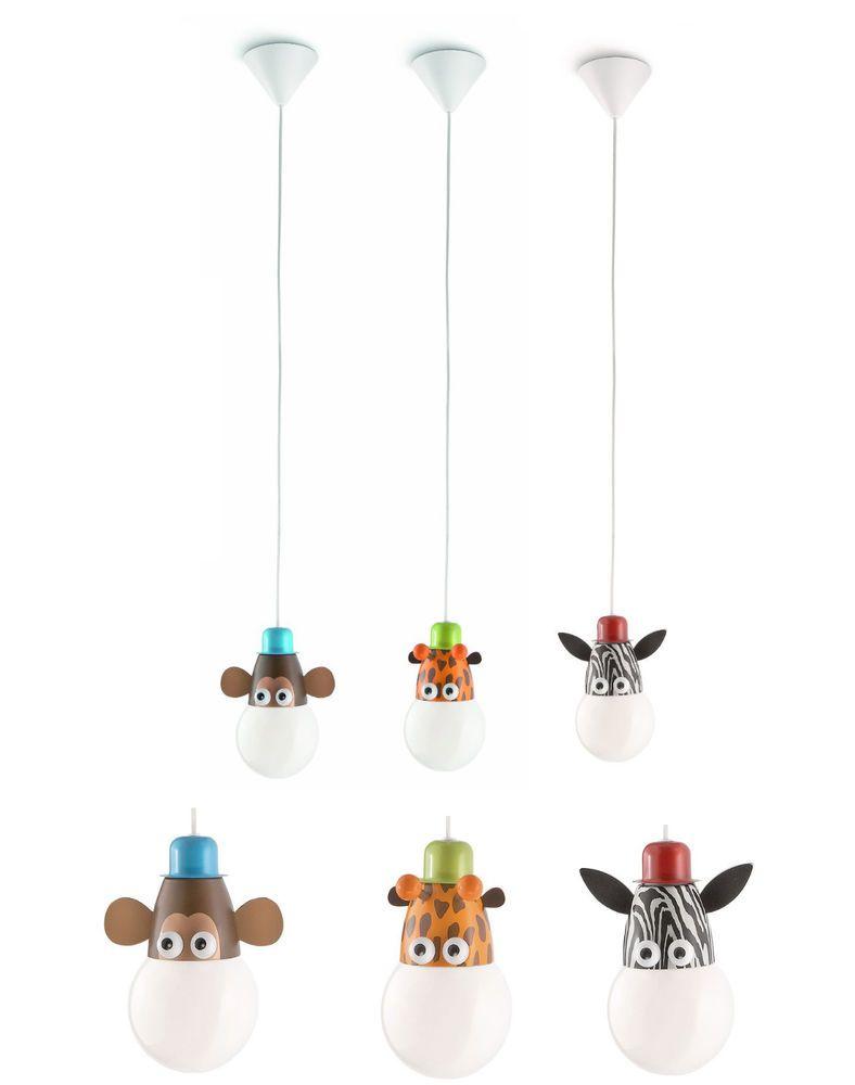 Animal Characters Low Energy Pendant Kids Childrens Bedroom Light - Boys bedroom light fitting