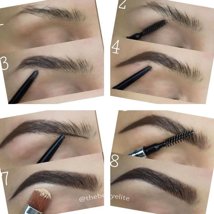 The Best Eyebrows   Brown Cream Makeup   How To Properly ...