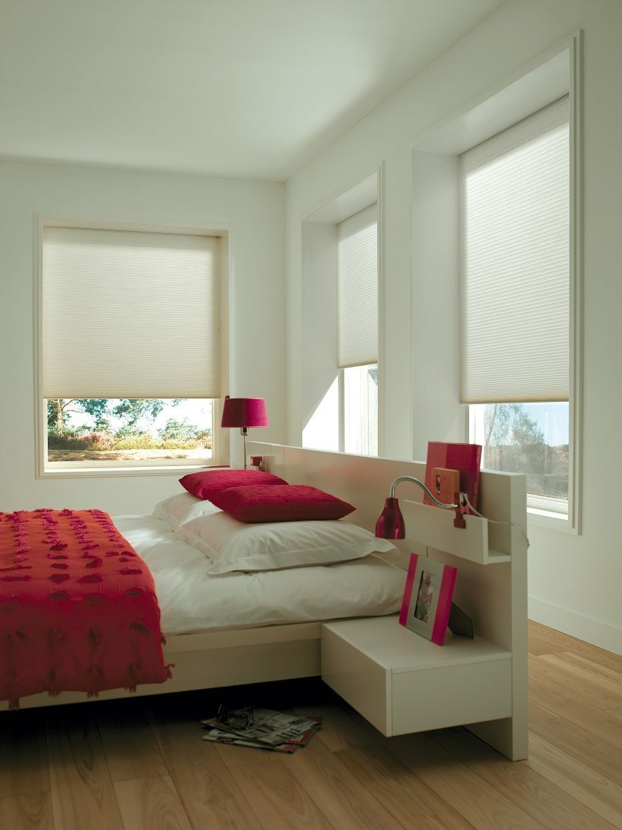 Neutral duette energy saving blinds bedroom blinds contemporary