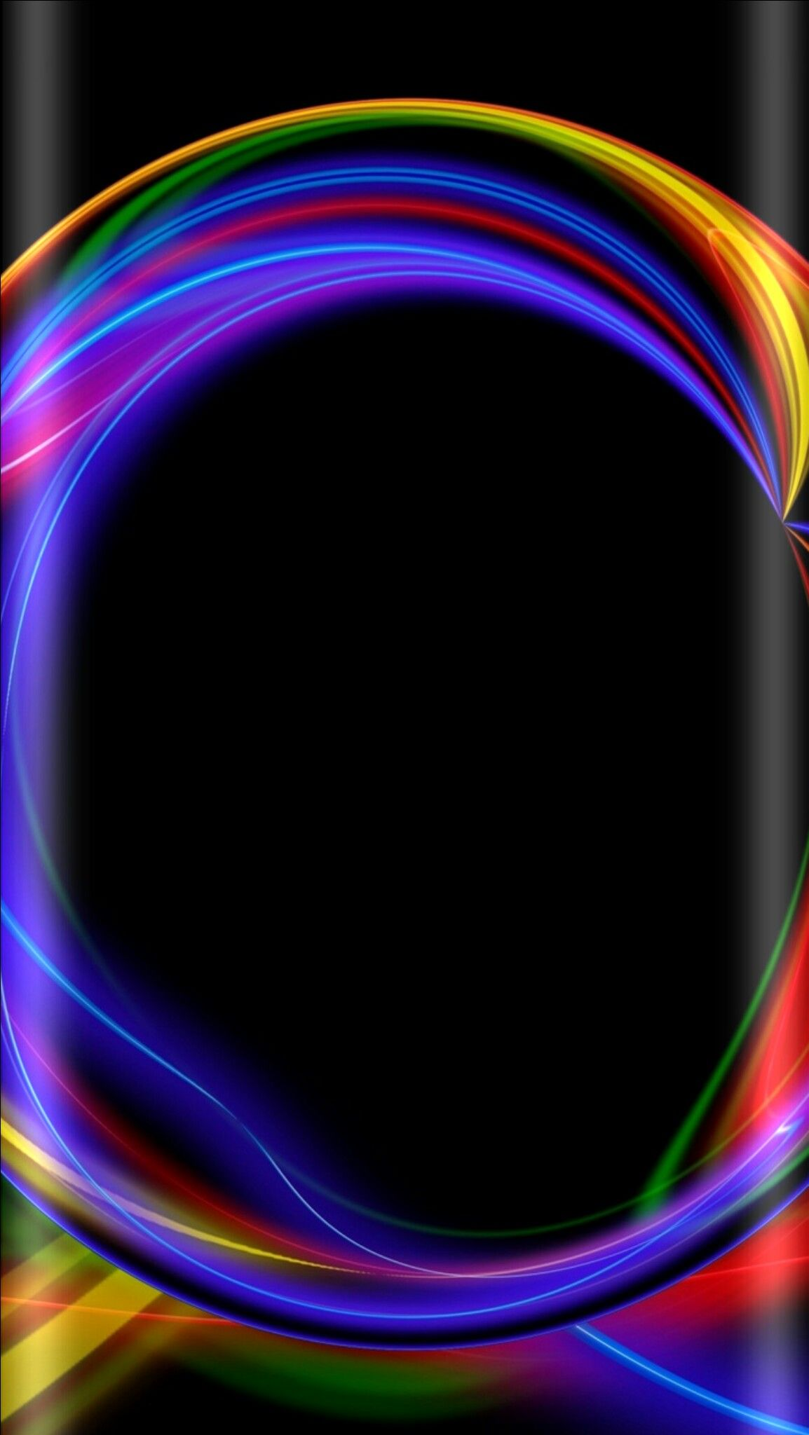 Black With Neon Abstract Wallpaper Abstract Wallpaper Cellphone