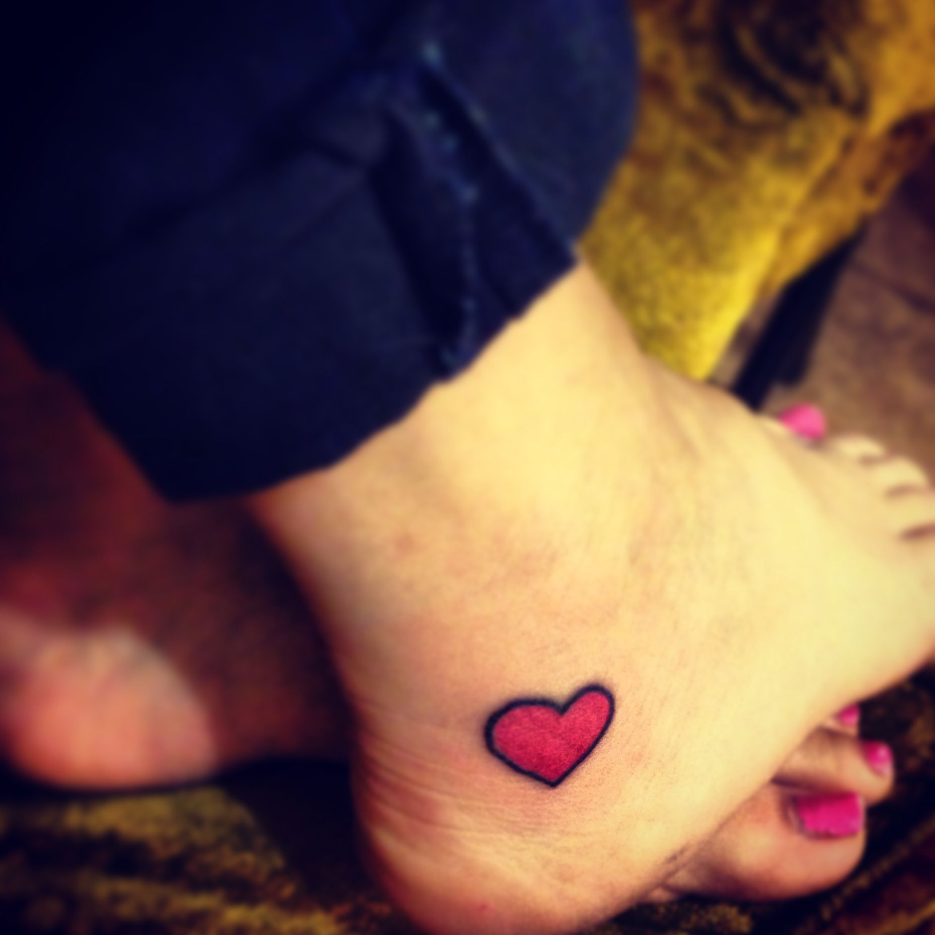 Pin By Kristin Ferreri On Inks Red Heart Tattoos Heart Tattoo Ankle Ankle Tattoo